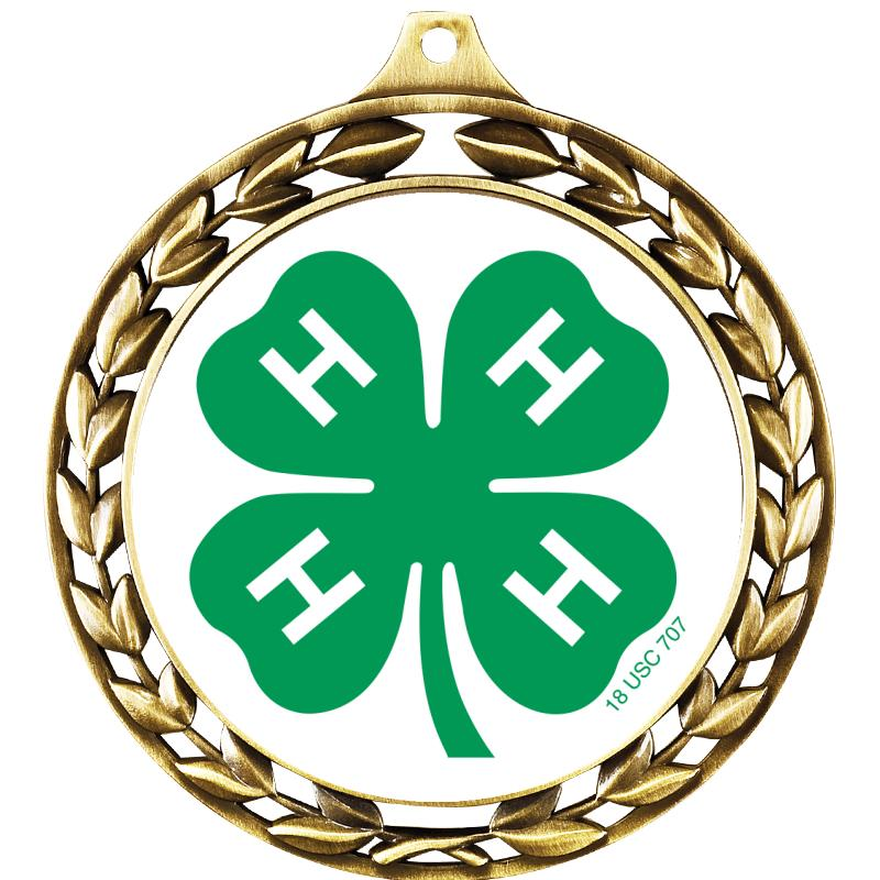 "2 1/2"" 4-H Silo Wreath Medal"