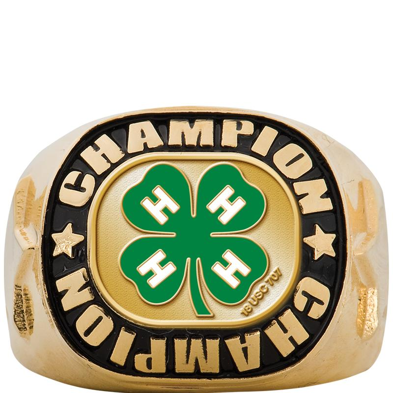 4H CHAMPIONSHIP GOLD RING SZ 6