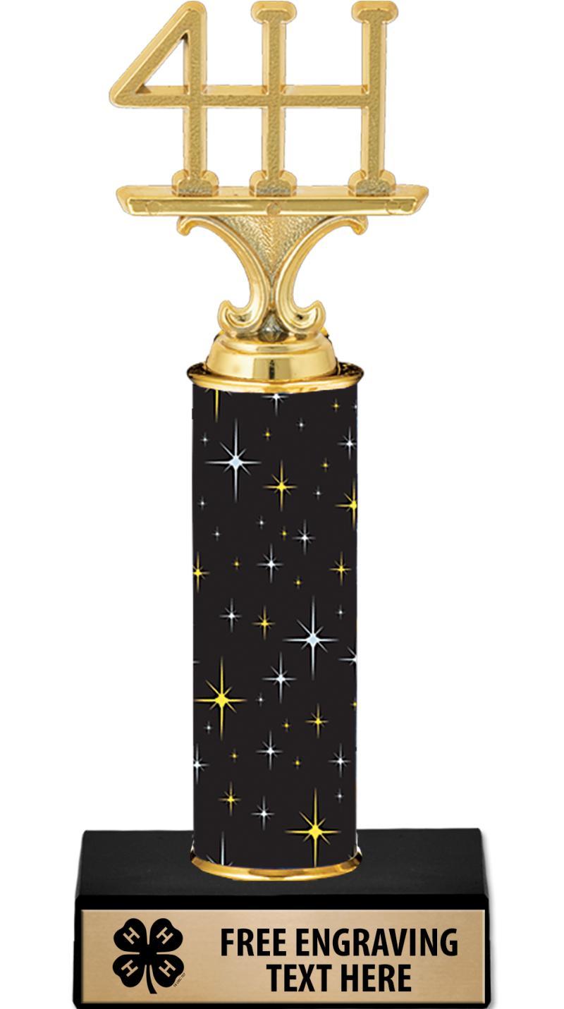 "10"" 4-H Midnight Black Trophy"