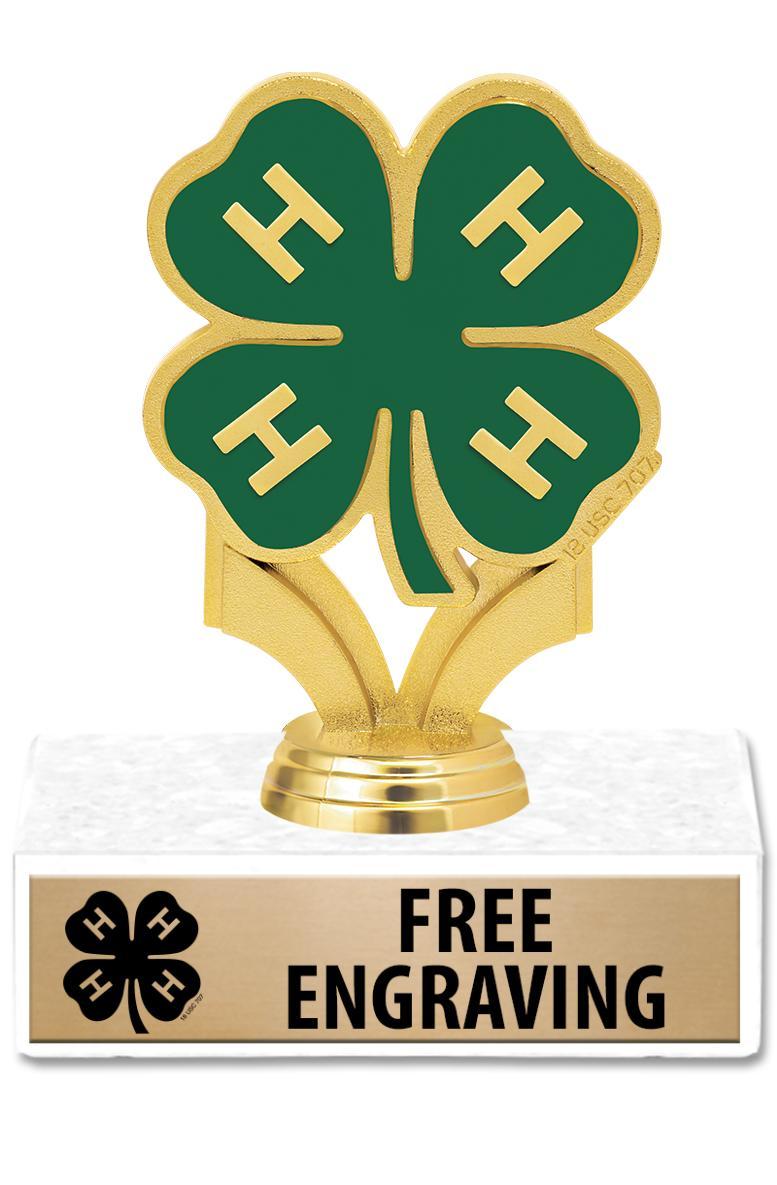 """4""""-6"""" 4-H Participation Trophy"""