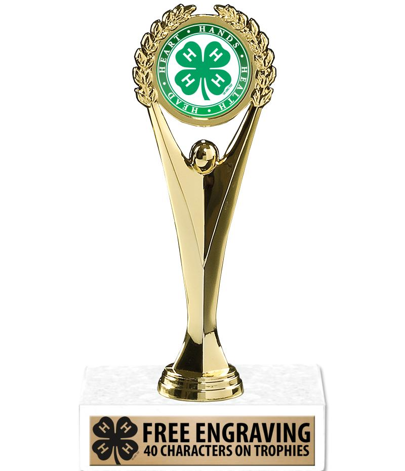 """9"""" 4-H Achievement Insert Trophy"""