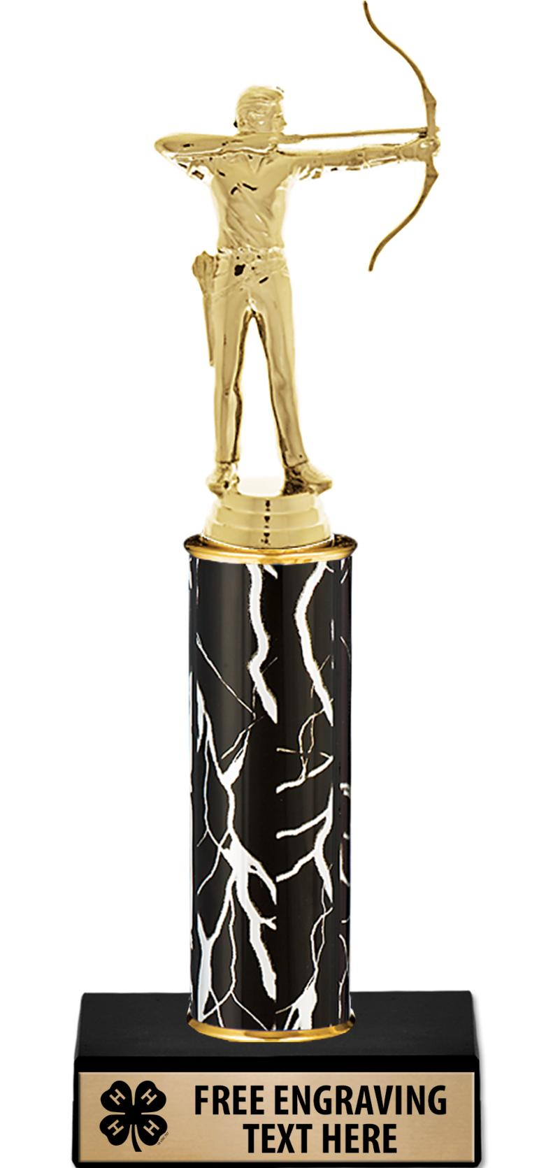 """10"""" 4-H Black Lightning Trophy"""