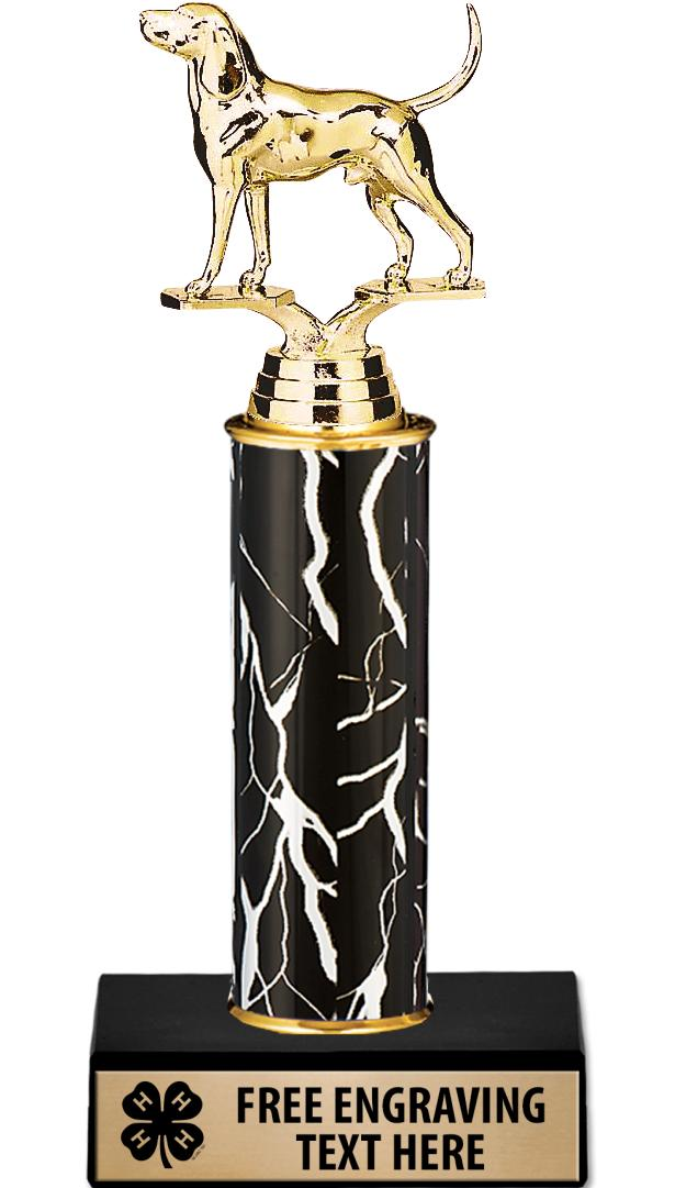 "10"" 4-H Black Lightning Trophy"