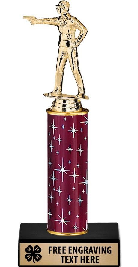 "10"" 4-H Midnight Maroon Trophy"