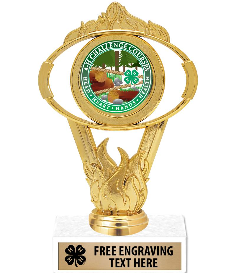 """6"""" 4-H Oval Trophy"""