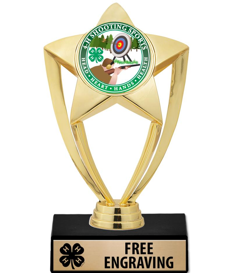 "6"" 4-H Star Gold Insert Trophy"