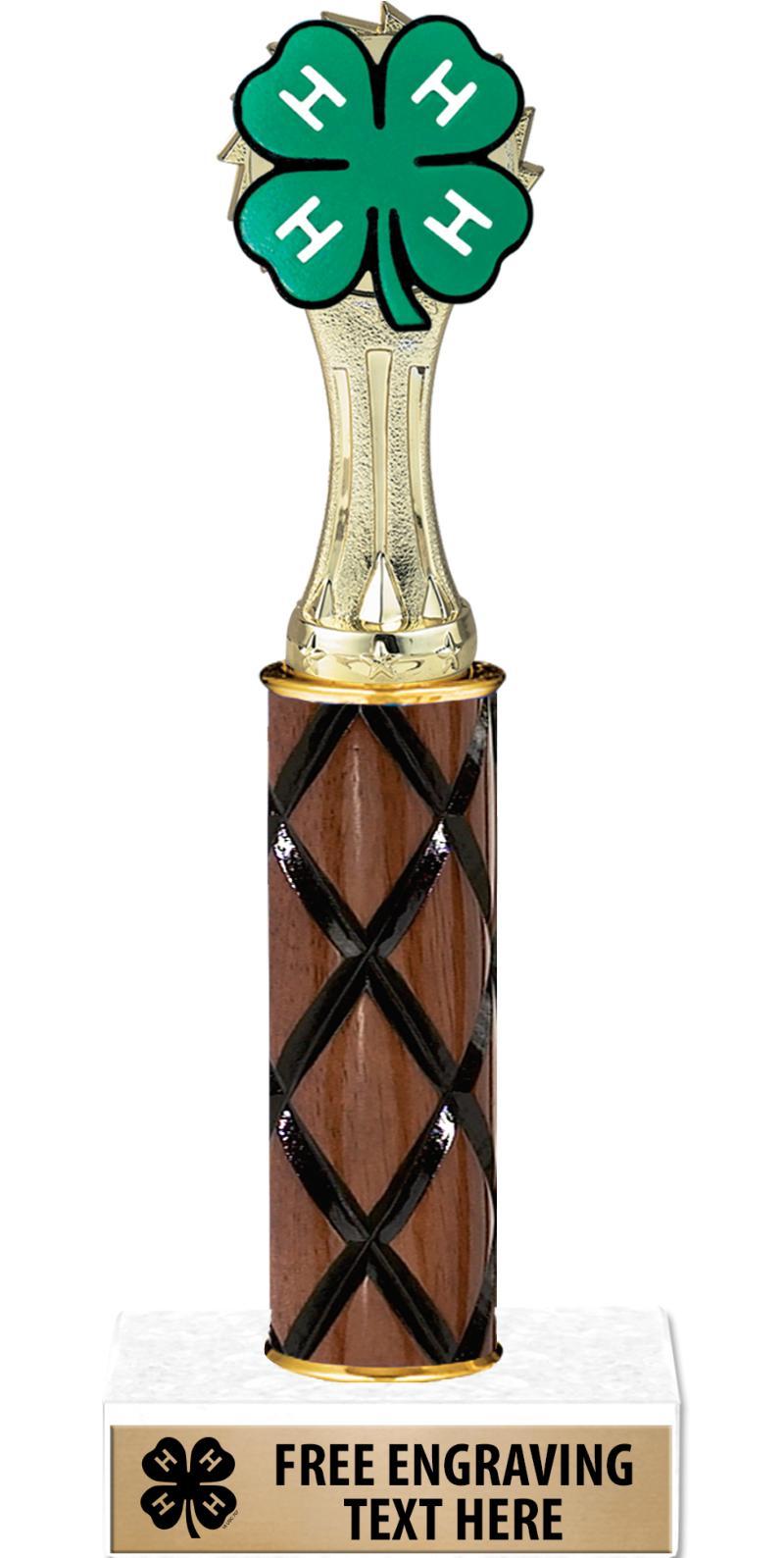 "10"" 4-H Wood Trophy"