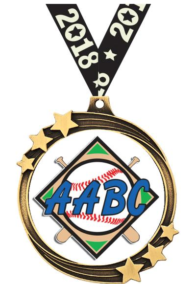 "2 1/2"" AABC Shooting Star Medal"