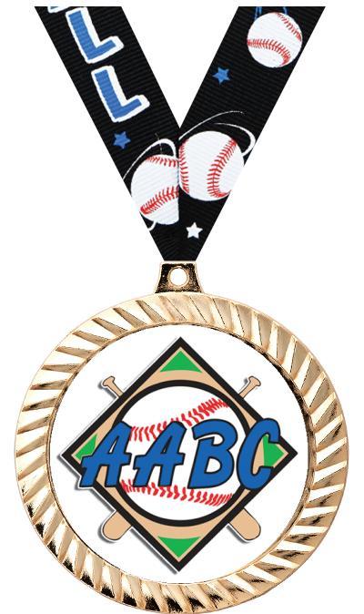 """2 1/2"""" AABC Diamond Cut Medal"""