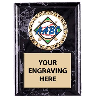 Black Marbleized AABC Insert Plaques
