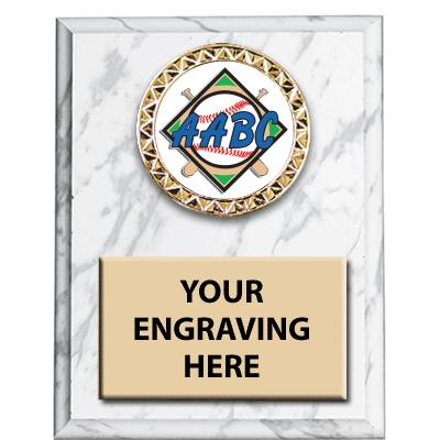 White Marbleized AABC Insert Plaques