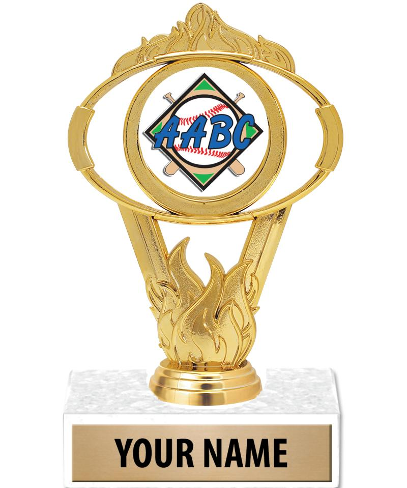 AABC Gold Oval Insert Trophy