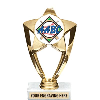 AABC GOLD STAR INSERT TROPHY