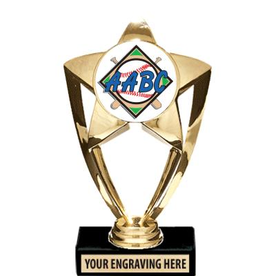 AABC Shiny Gold Star Insert Trophy