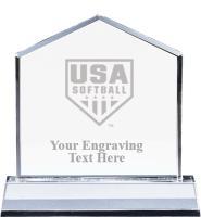 USA Softball Home Plate Crystal Award