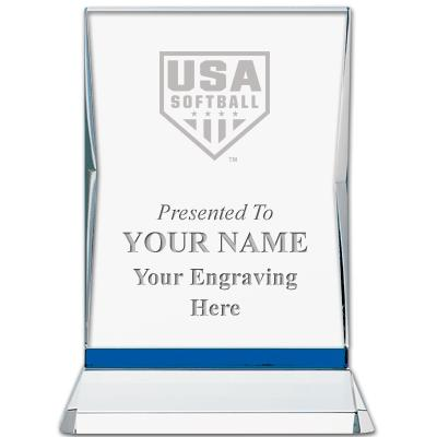 USA Softball Sapphire Illumination Crystal Award