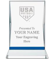 USA Softball Sapphire Illumination Crystal Award