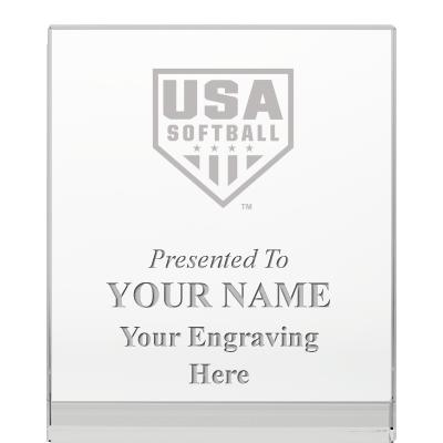 USA Softball Goodview Wedge Crystal Awards