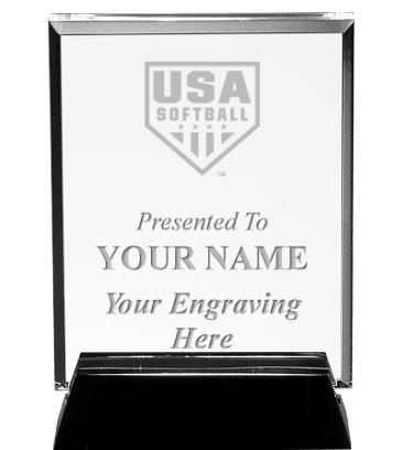 USA Softball Vertical Billboard Acrylic Award