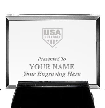 USA Softball Horizontal Billboard Acrylic Award