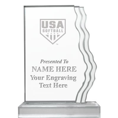 USA Softball Ice Wedge Acrylic