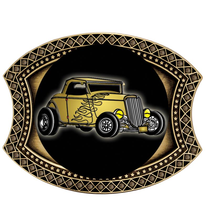 BELT BUCKLE ANTIQUE GOLD