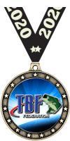 "2 1/2"" Bass Federation Universe Star Medal"