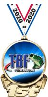 """3"""" Bass Federation 1st Place Insert Medal"""