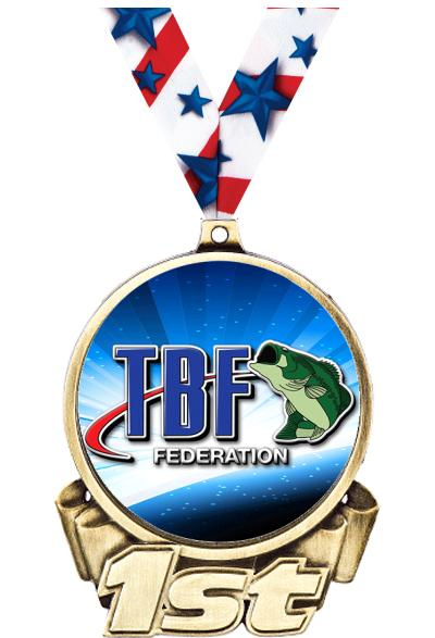 "3"" Bass Federation 1st Place Insert Medal"