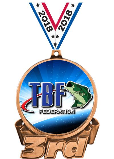 "3"" Bass Federation 3rd Place Insert Medal"