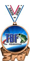 """3"""" Bass Federation 3rd Place Insert Medal"""