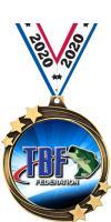 "2 1/2"" Bass Federation Shooting Star Medal"