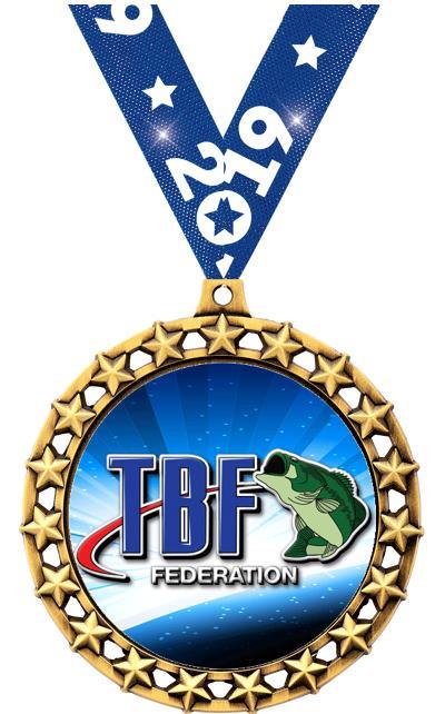 """2 1/2"""" Bass Federation Galaxy Star Medal"""