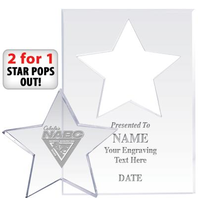 Bass Federation Star Paperweights Pop Out
