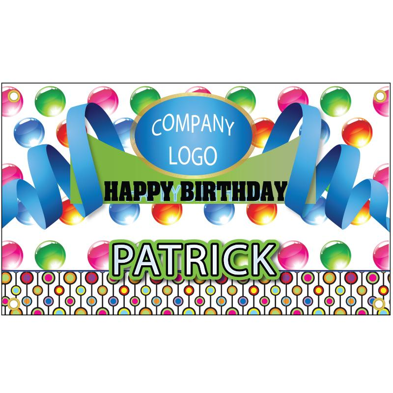BIRTHDAY BANNER TEMPLATE 8