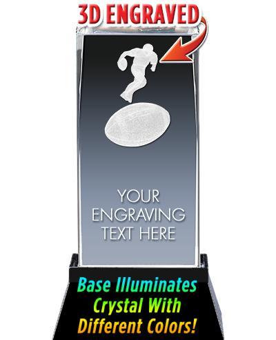 BSYAA Football 3D Laser Cut Crystal