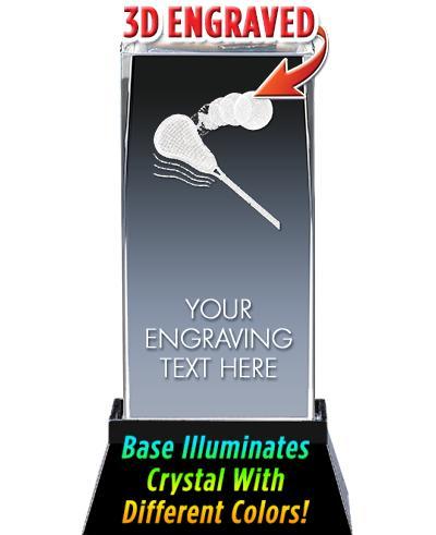 BSYAA Lacrosse 3D Laser Cut Crystal