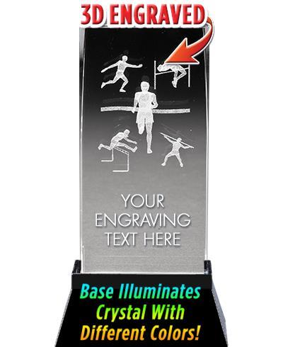 BSYAA Track & Field Laser-3D Crystal