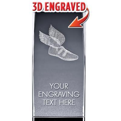 BSYAA Winged Foot 3D Laser Cut Crystal