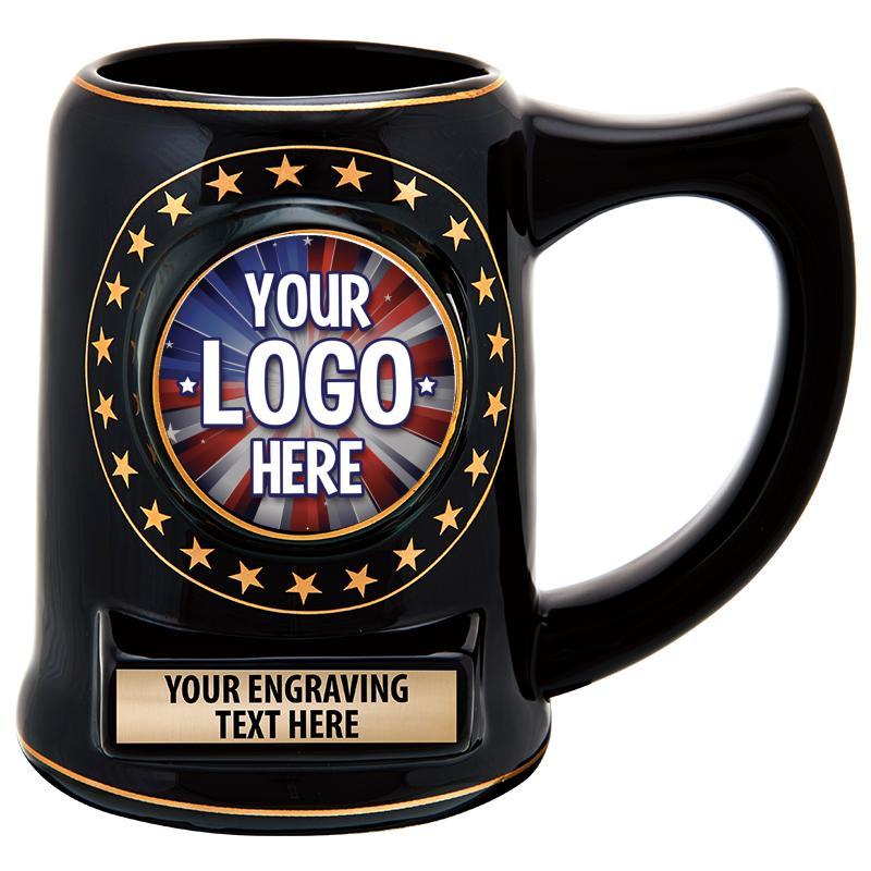 """5"""" Ceramic Black Star Mug"""