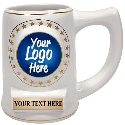 """5"""" Ceramic White Star Mug"""