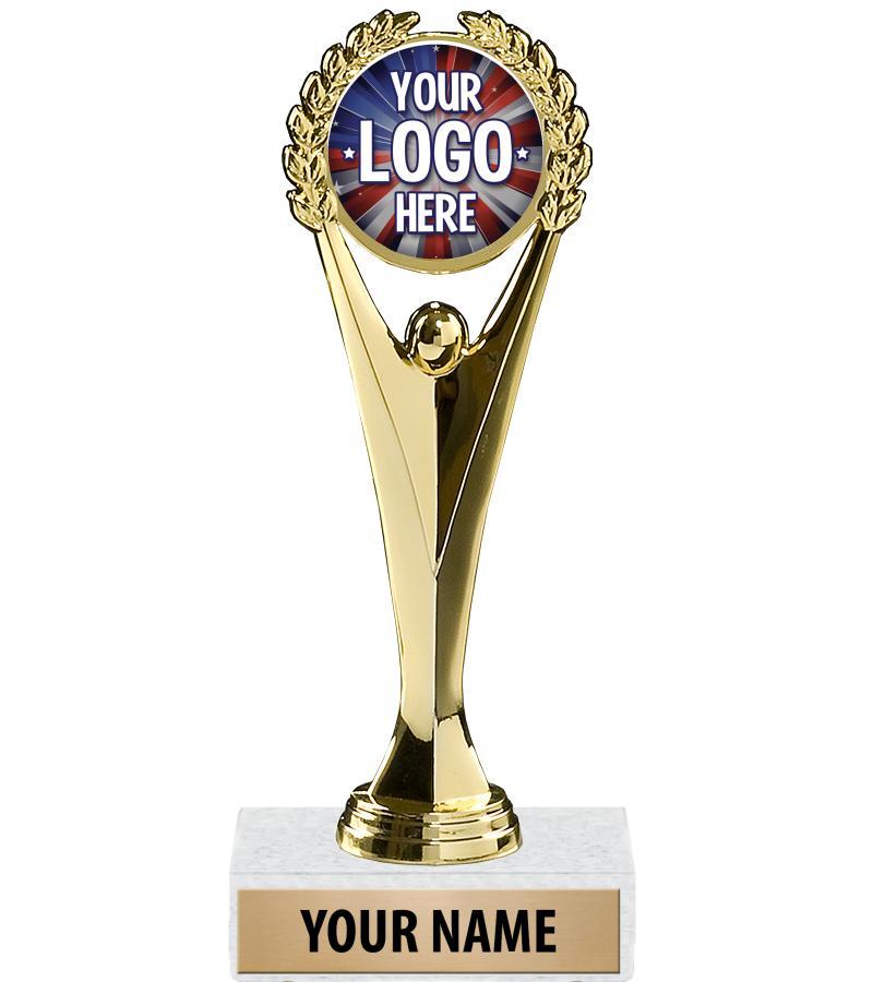 "9"" Achievement Custom Insert Trophy"
