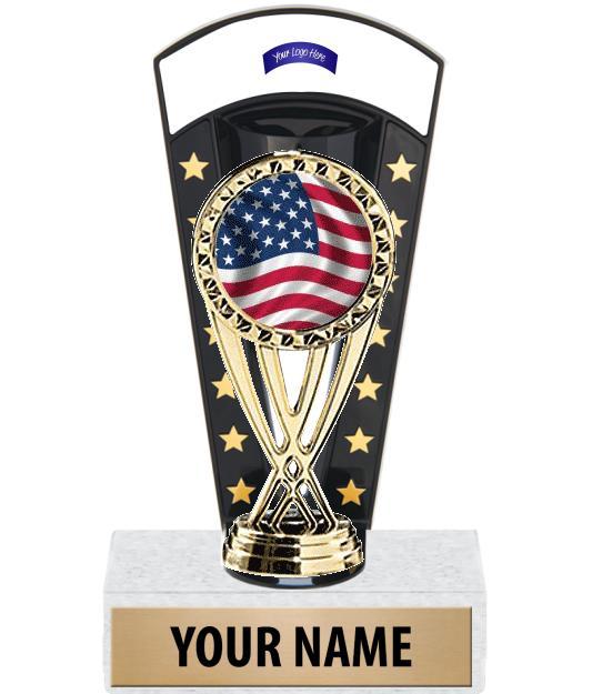 "7 3/4"" Banner Backdrop Custom Insert Trophy"