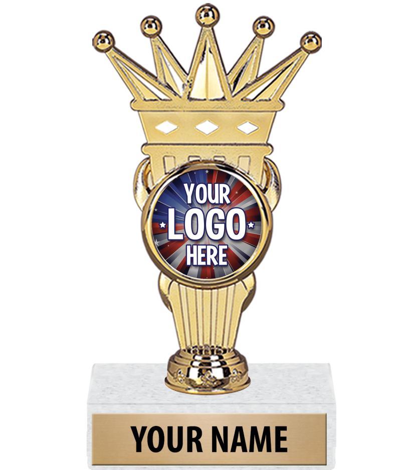 "7 3/4"" Crown Custom Insert Trophy"