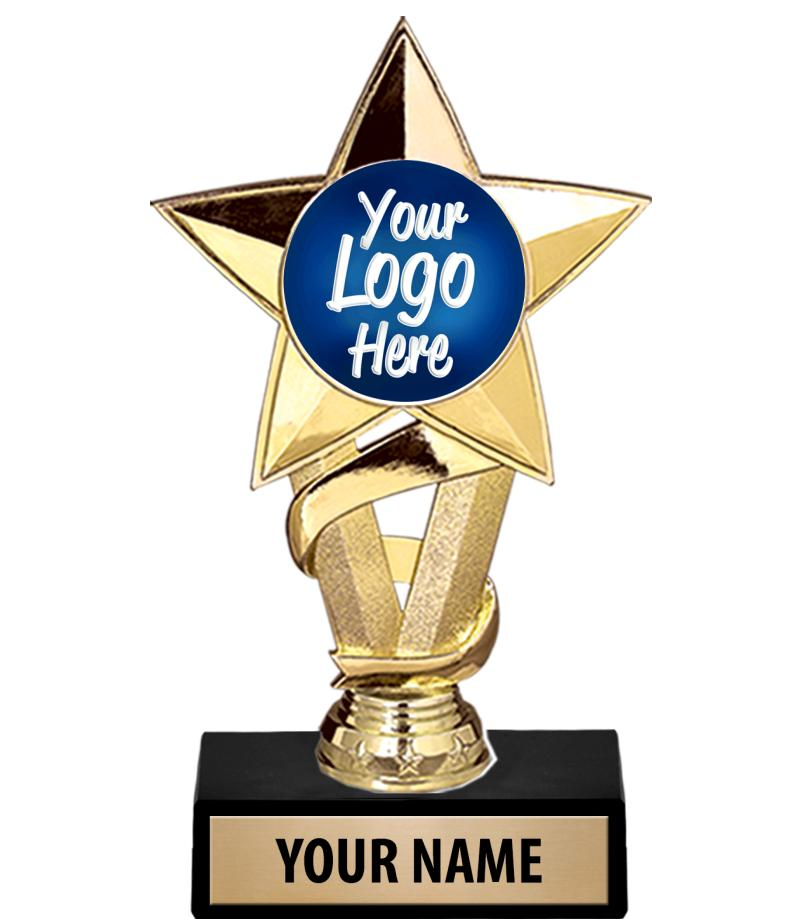 "7"" Gold Star Custom Insert Trophy"