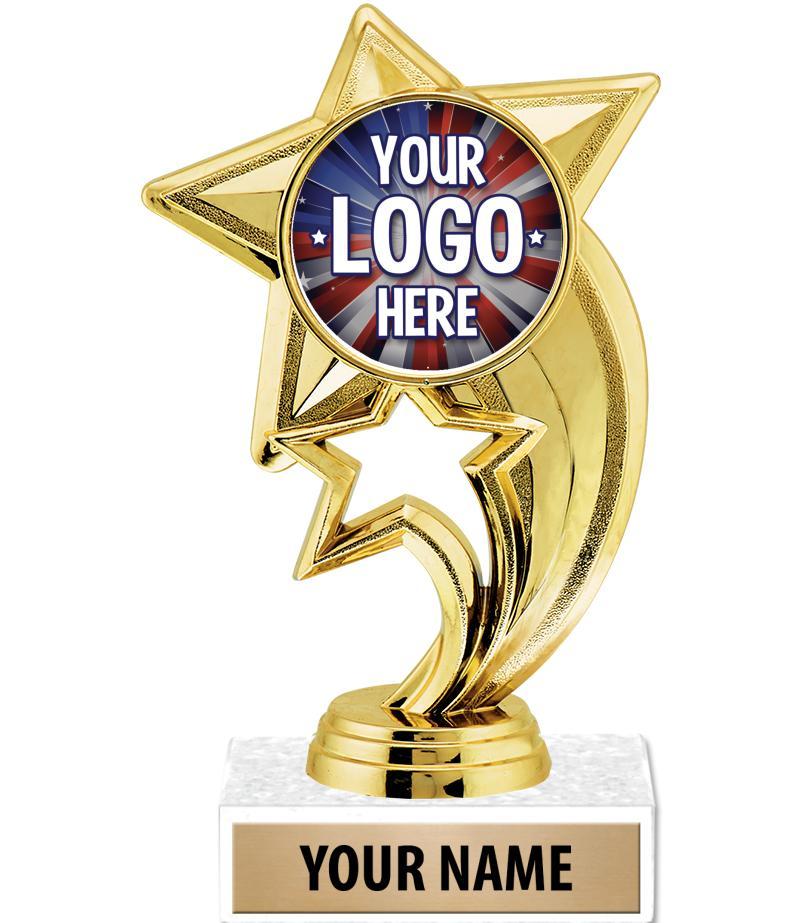 "6 3/4"" Gold Skyrocket Custom Insert Trophy"