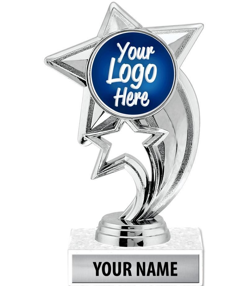 "6 3/4"" Silver Skyrocket Custom Trophy"