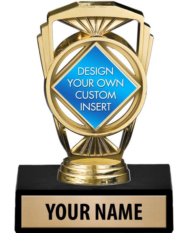 "5 1/4"" Marquis Custom Insert Trophy"