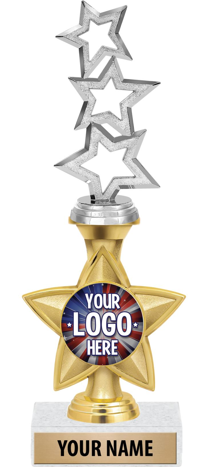 "11"" Idol Star Riser Custom 2"" Insert Trophy"