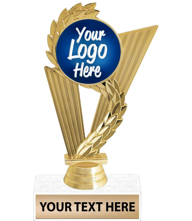 "6 3/4"" Triumph Gold Custom Insert Trophy"
